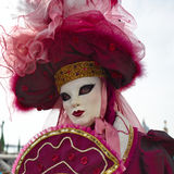 Person in Venetian costume Royalty Free Stock Photo