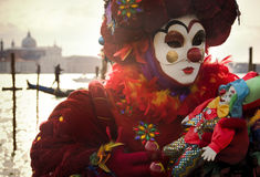 Person in Venice Carnival mask Stock Photography