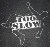 Person Victim Chalk Outline Lazy demasiado lento atrasado ilustração do vetor