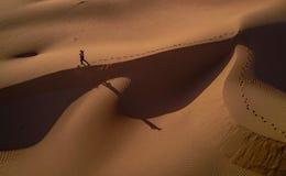Person Walking on Desert Stock Photos