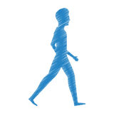 person walking isolated icon Stock Image