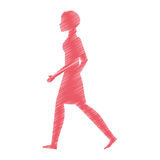 person walking isolated icon Royalty Free Stock Images