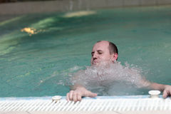 Person in the water park Stock Photography