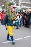 Person wearing carnival costume Royalty Free Stock Photos