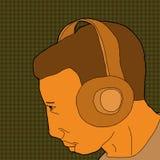 Person Wearing Headphones Fotografia Stock Libera da Diritti