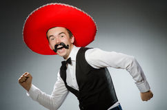 The person wearing sombrero hat in funny concept Royalty Free Stock Photos