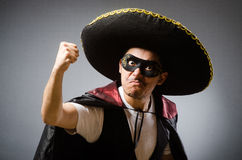 The person wearing sombrero hat in funny concept Royalty Free Stock Photography