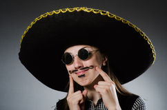 The person wearing sombrero hat in funny concept Royalty Free Stock Photo