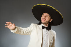 The person wearing sombrero hat in funny concept Stock Photography