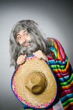 Person wearing sombrero hat in funny concept Stock Photography