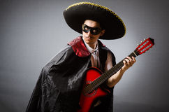 Person wearing sombrero hat in funny concept Stock Photo