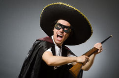 Person wearing sombrero hat in funny concept Royalty Free Stock Images