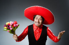 The person wearing sombrero hat in funny concept Stock Photo