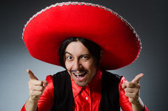 The person wearing sombrero hat in funny concept Stock Photos