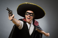 The person wearing sombrero hat in funny concept Stock Image