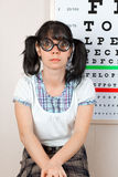 Person wearing spectacles Royalty Free Stock Photo