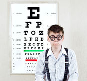 Person wearing spectacles Stock Images