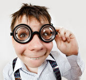 Person wearing spectacles Stock Photography