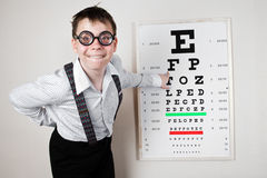 Person wearing spectacles Stock Image
