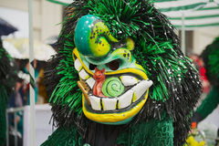 Person wears Waggis mask at Basel Carnival in Basel, Switzerland. Stock Images