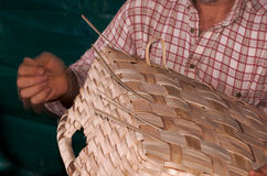 Person Weaving Basket stock photos