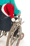 Person in wheelchair with Christmas Royalty Free Stock Photography
