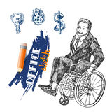 Person on wheelchair Stock Photography