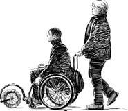 Person in a wheelchair Stock Photos