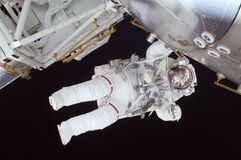 Person in White Astronaut Suit Stock Photo