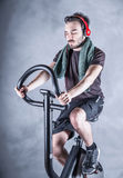 Person who keeps in shape. A sporty person who keeps in shape Royalty Free Stock Photography