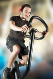Person who keeps in shape. A sporty person who keeps in shape Stock Photos