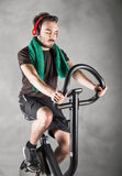 Person who keeps in shape. A sporty person who keeps in shape Stock Images