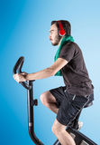 Person who keeps in shape. A sporty person who keeps in shape Stock Image