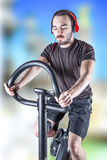 Person who keeps in shape. A sporty person who keeps in shape Stock Photography