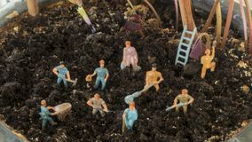 Farmers working in soil royalty free stock images