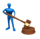 Person With Judicial Gavel Royalty Free Stock Photo