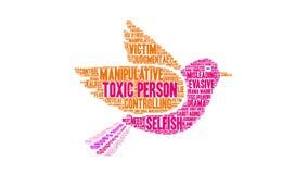 Person Word Cloud tóxico stock de ilustración