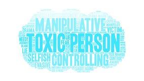 Person Word Cloud tóxico libre illustration