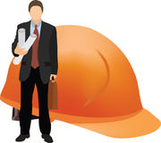 Person at work. Person to the architect or surveyor with work projects Stock Photos