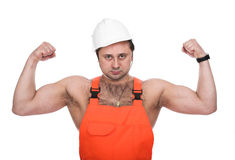 The person in  working clothes Stock Image