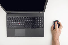 Person Working On Laptop Stock Images