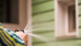 Person Working With Sprayer Outside stock footage