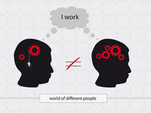 Person works Stock Photo