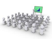 Person zeigt einem Vorstand mit Diagramm zu vielen andere Stockfotografie