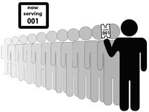 Person zuerst in der Zeile Lizenzfreie Stockbilder