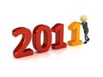 persona 3d con il numero 2011 Immagine Stock