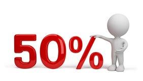 persona 3d con le percentuali illustrazione di stock