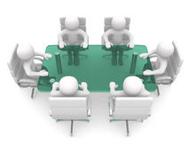 persona 3d en la mesa de reuniones Fotografía de archivo