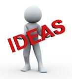persona 3d y texto de las ideas Fotografía de archivo libre de regalías