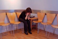 Persona ansiosa Imagen de archivo libre de regalías
